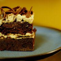 Mocha Fudge Brownie Cake