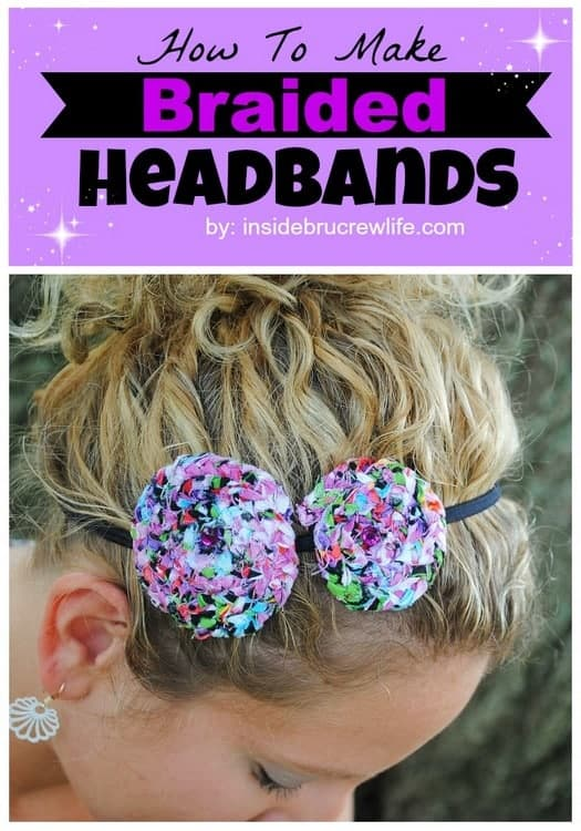 How To Make Braided Headbands - easy tutorial for making braided headbands