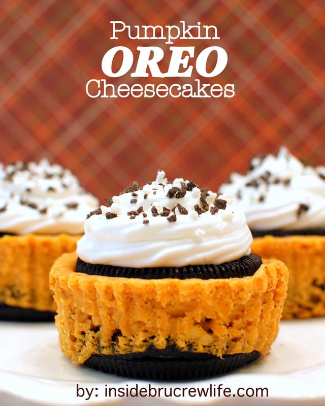 Pumpkin Oreo Cheesecakes title