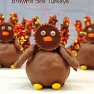 Reese's Brownie Bite Turkeys