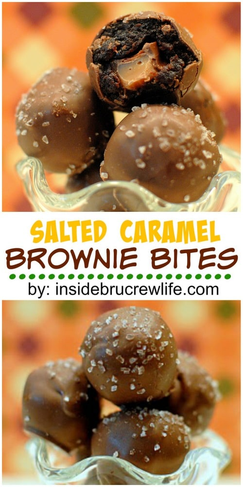 Sweet and salty collide in these fun brownie bites!