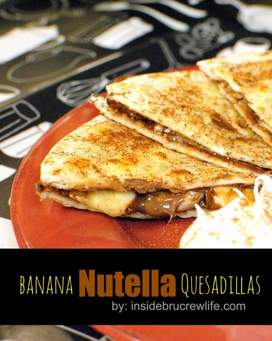 Banana Nutella Quesadillas title