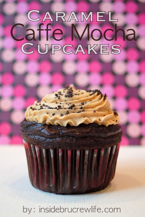 Caramel Caffe Mocha Cupcakes title