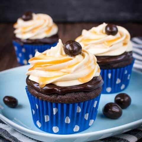 Caramel Caffe' Mocha Cupcakes