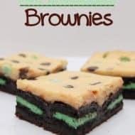 Mint Cheesecake Brownies