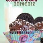 {Cookies -n- Cream Cupcakes}