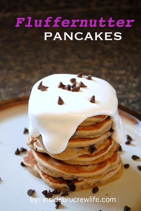 Fluffernutter Pancakes title