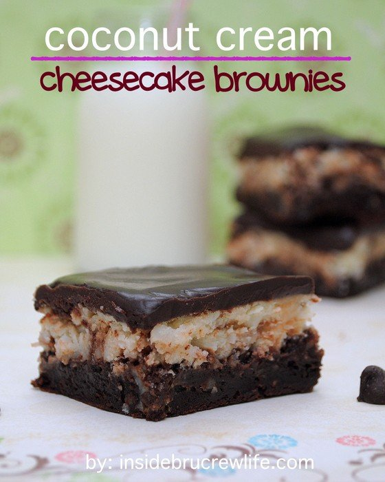 Coconut Cream Cheesecake Brownies