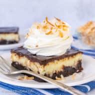 Coconut Cream Cheesecake Brownies