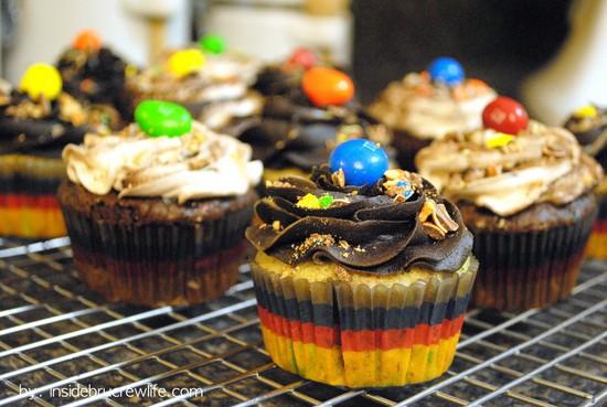 Peanut M&M Cupcakes 1