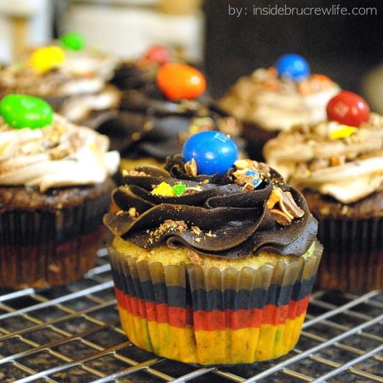 Peanut M&M Cupcakes | Inside BruCrew Life