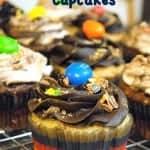 Peanut M&M cupcakes