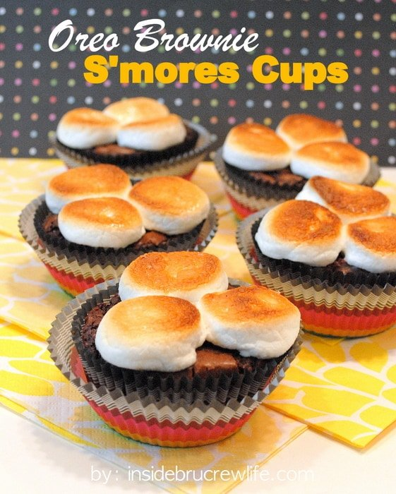 Oreo Brownie S'mores Cups title