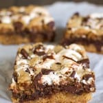 Peanut Butter S'mores Blondies