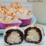 Coconut Macaroon Brownie Bites