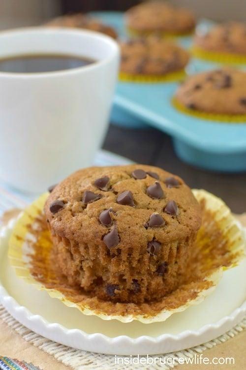 Caramel Mocha Chip Banana Muffins 2