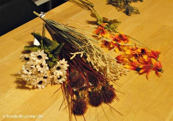 Silk Flowers for an Easy DIY Fall Wreath