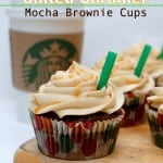 Salted Caramel Mocha Brownie Cups