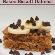 Baked Biscoff Oatmeal