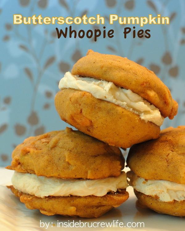 Butterscotch Pumpkin Whoopie Pies