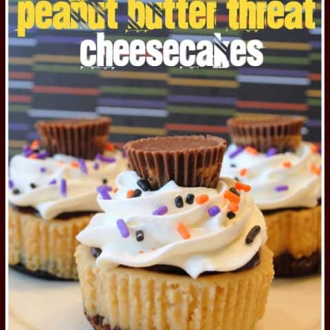 Mini Peanut Butter Cup Cheesecakes