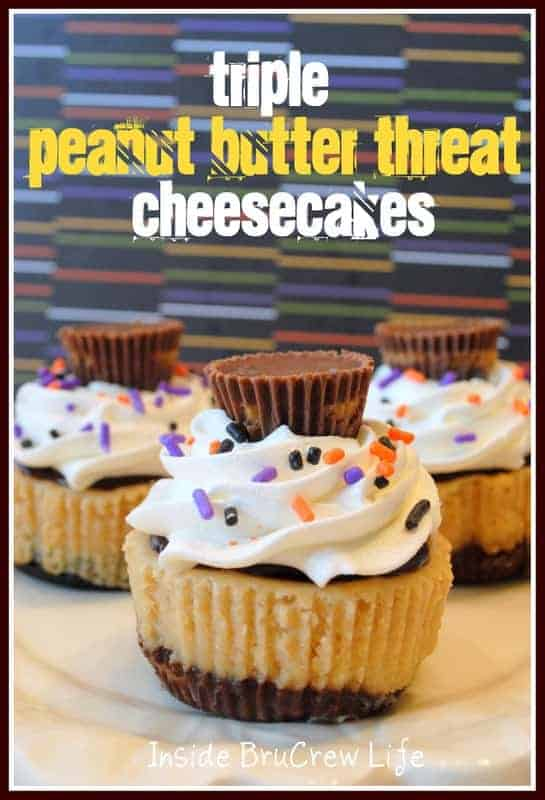 Peanut Butter Threat Cheesecakes