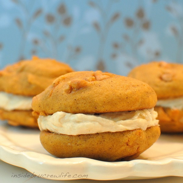 pumpkin whoopie pies with salted butter cream