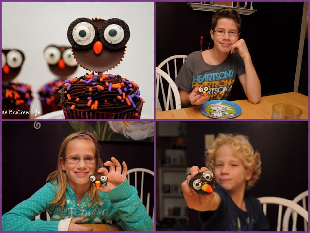 reese's owls collage