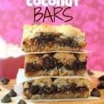 Caramel Coconut Bars