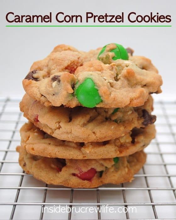 Caramel Corn Pretzel Cookies