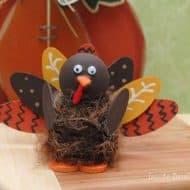 Wooden Spool Yarn Turkeys