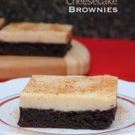 Eggnog Cheesecake Brownies