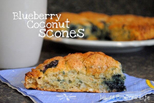 Blueberry Coconut Scones