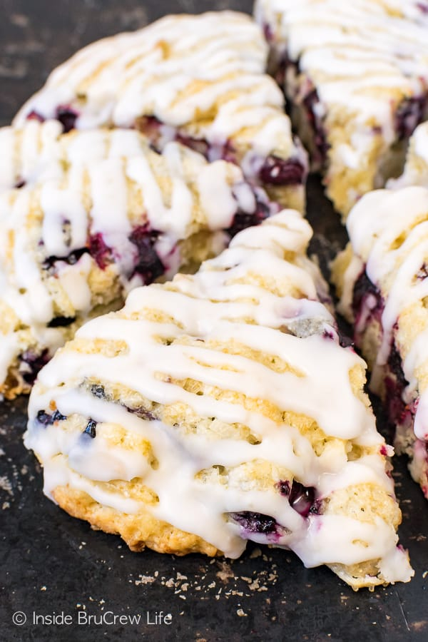 Blueberry Coconut Scones - these soft flakey scones are filled with fresh blueberries and coconut. Make this easy recipe for breakfast or brunch this summer! #breakfast #scones #blueberry #coconut #pastries #homemade #recipe #easy