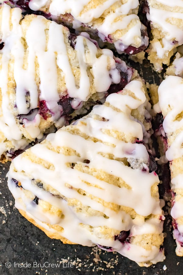 Blueberry Coconut Scones - blueberries and coconut add a sweet flavor to these flakey scones. Make this recipe for breakfast or brunch this summer. #breakfast #scones #blueberry #coconut #pastries #homemade #recipe #easy