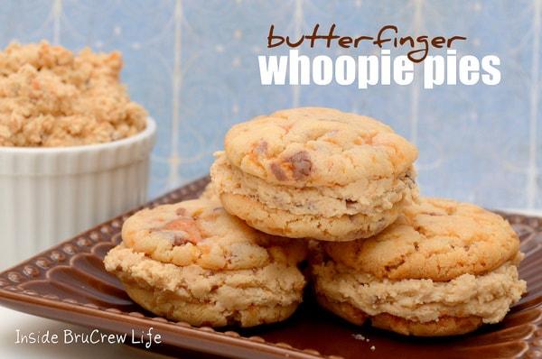 Butterfinger Whoopie Pies