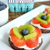Mini Brownie Fruit Pizzas