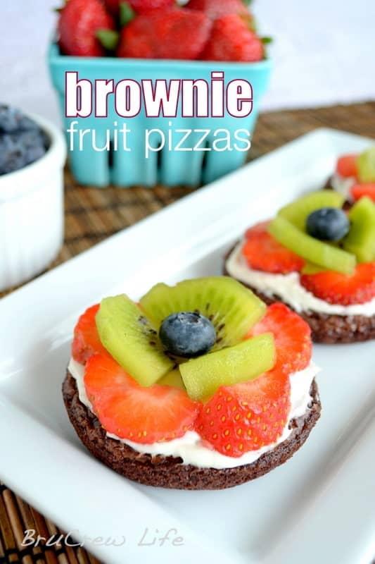 Mini Brownie Fruit Pizzas
