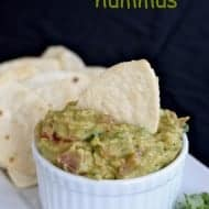 Guacamole Hummus with Football Chips