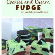 Mint Chocolate Cookies and Cream Fudge