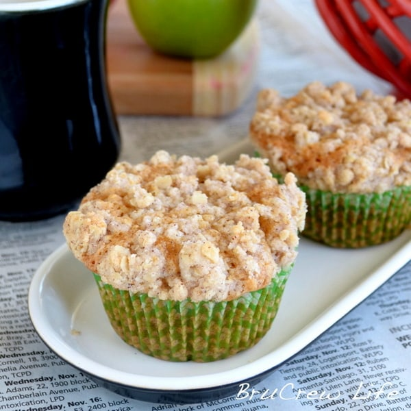 Biscoff Apple Muffins - sweet breakfast muffins loaded with apple and Biscoff