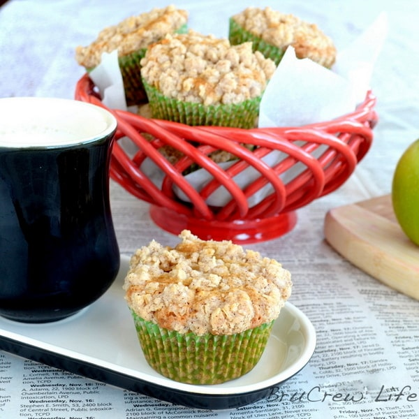 Biscoff Apple Muffins - sweet breakfast muffin recipe loaded with apple and Biscoff flavor!