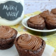 Milky Way Brownie Cups