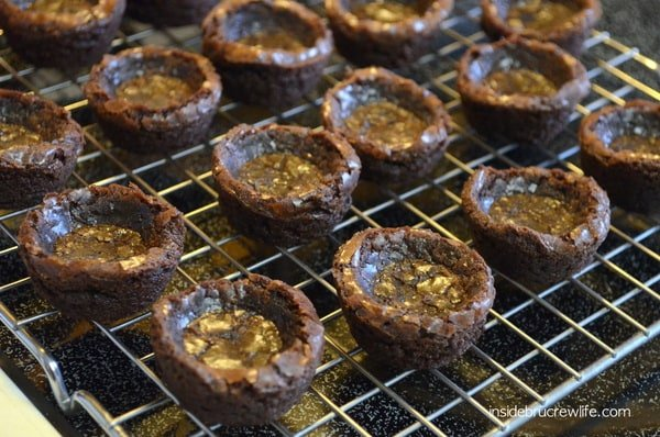 milky way brownie cups - bites