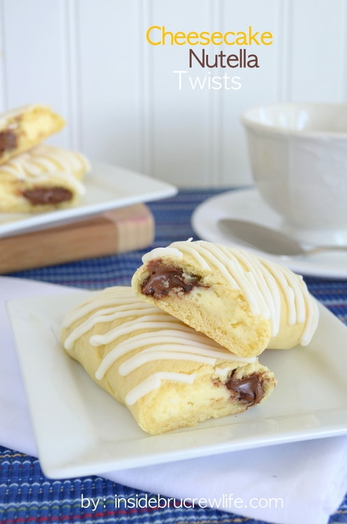 Cheesecake and Nutella wrapped in a crescent roll makes a great special morning breakfast treat.
