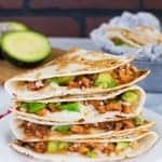 BBQ Chicken & Avocado Quesadillas