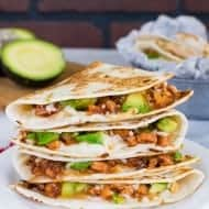 BBQ Chicken & Avocado Quesadillas