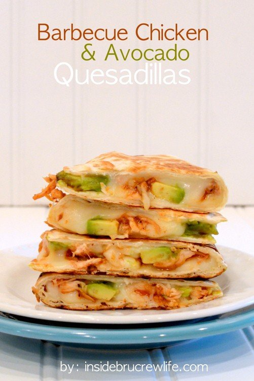 BBQ Chicken & Avocado Quesadillas title-1