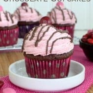 Raspberry Cheesecake Chocolate Cupcakes