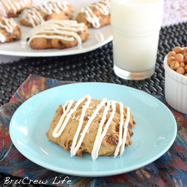 Salted Caramel White Chocolate Mocha Scones